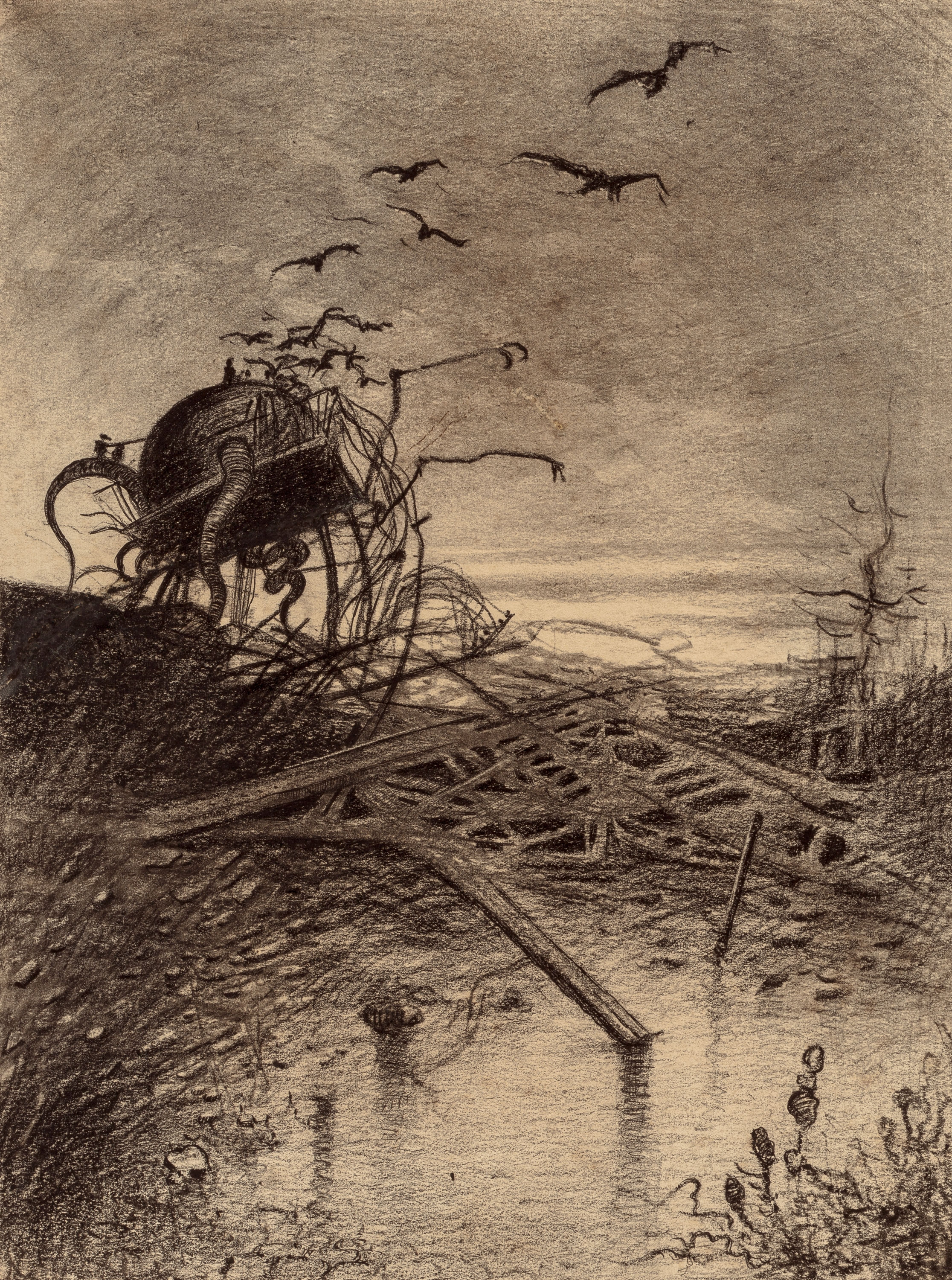 The History Blog  U00bb Blog Archive  U00bb Original The War Of The Worlds Drawings For Sale