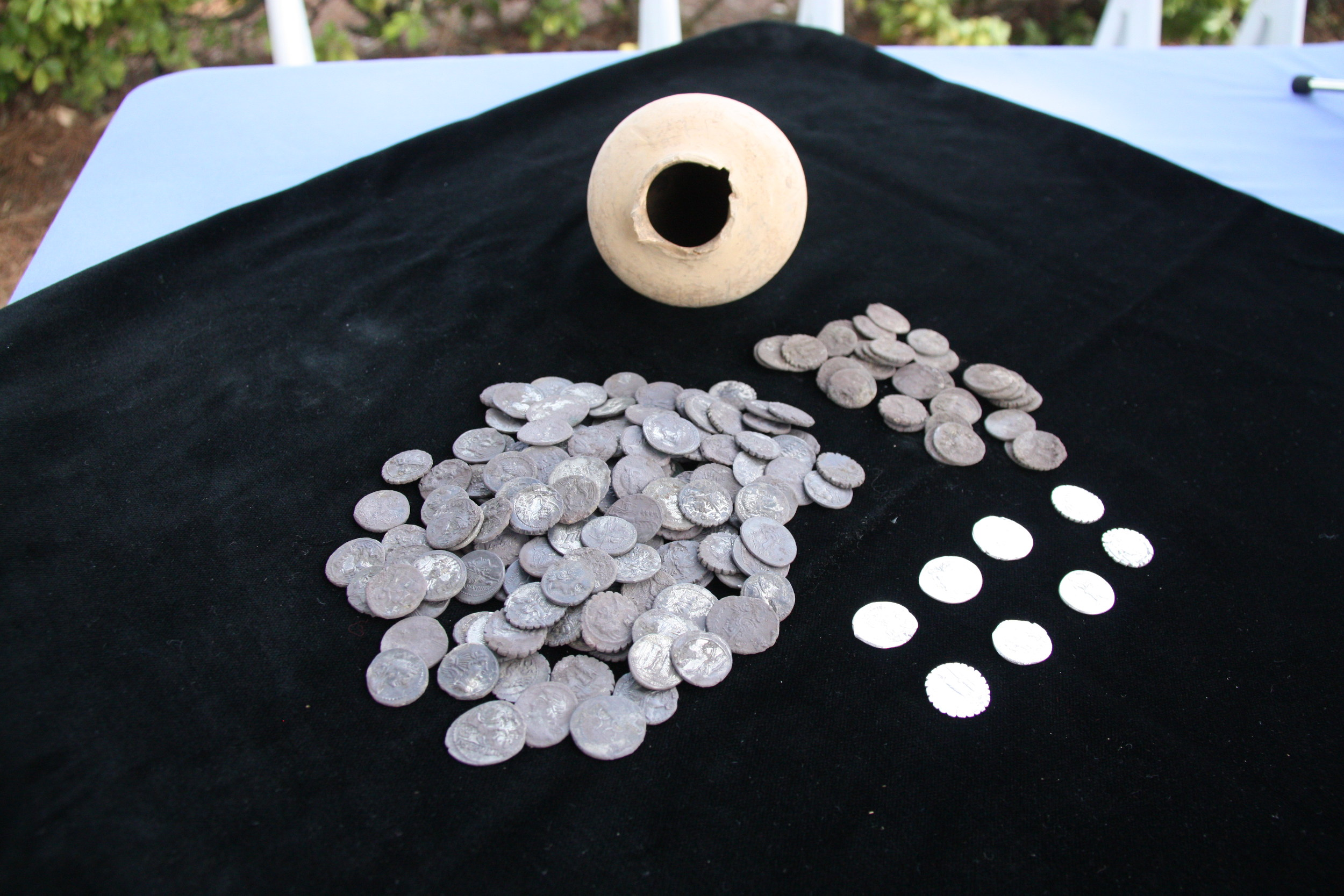 Roman coin hoard found by students in Spain