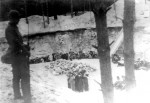 Jews taken to execution pit guarded by Lithuanian militia. Yad Vashem Photo Archives FO475.