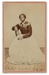 Previously unknown photograph of Harriet Tubman found in Emily Howland's carte-de-visite album, ca. 1865-8. Photo courtesy of Swann Auction Galleries.