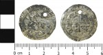 Edward IV groat, pierced from reverse to obverse to the right of the crown, 1480-83. Photo courtesy the Portable Antiquities Scheme.