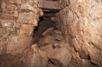 Collapsed stones in one of the tunnels. Photo courtesy Simone Gioia.