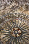Eagle and ray motif from most complex mosaic. Denis Gliksman, INRAP.