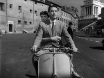 Audrey Hepburn and Gregory Peck ride through Rome on the Vespa 98 cc Serie 0 Number 3.