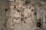 Overhead view of building from late antiquity, 6th c. A.D. Denis Gliksman, INRAP.