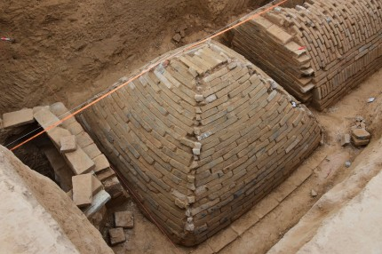 Pyramid tomb discovered in Zhengzhou, China. Photo by Li Sixin, ImagineChina.