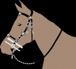 Reconstruction of the bridle showing placement of the fittings. Image courtesy the Museum of Skanderborg.
