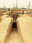 Ancient tombs discovered at construction site in Zhengzhou. Photo by Li Sixin, ImagineChina.