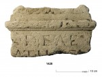 Altar fragment with DEAE inscription. Photo courtesy ADC ArcheoProjecten.