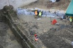 Aqueduct section excavated. Photo courtesy the Archaeological Superintendency of Rome.