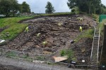 Archaeologists excavating Roman revetments, built to protect the river shore from erosion. Photo © Dr Jonathan Shipley.
