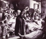Florence Nightingale tending to wounded soldiers during the Crimean War. National Library of Medicine