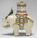 Ivory elephant automaton, side view. Royal Collection Trust/© Her Majesty Queen Elizabeth II 2017.
