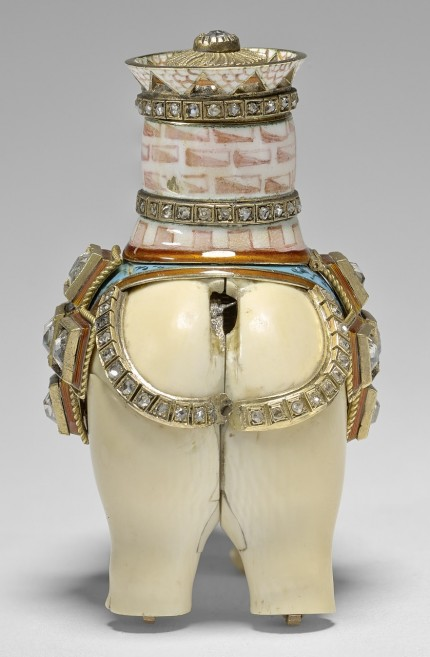 Ivory elephant automaton, rear view. Royal Collection Trust/© Her Majesty Queen Elizabeth II 2017.