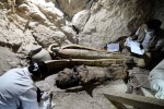 Mummies in coffins found in Userhat's tomb, ca. 3500 years old. Photo by Ahmed Taranh.