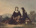 Napoleon and Caroline eating cherries, lithograph by Ferdinand Wachsmuth (1802-1869)