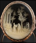 Ring with cherry-picking scene given by the young Napoleon Bonaparte to his first love Caroline du Colombier. Photo courtesy Osenat
