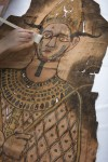 Shroud conservation detail. Copyright National Museums Scotland.