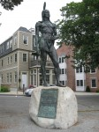 Statue of Massasoit Ousamequin in Plymouth, Massachusetts, erected in 1921.