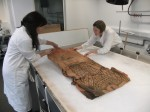 Bottom of shroud is unfolded. Copyright National Museums Scotland.