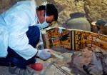 View of painted coffin interior. Photo by Reuters.