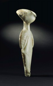 The Guennol Stargazer, side view. Photo courtesy Christie's.