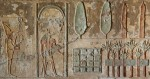 Detail of painting from the Remini tomb showing a funerary garden. Photo courtesy CSIC Comunicación.