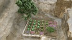 Digital reconstruction of the garden with plants. Photo courtesy CSIC Comunicación.