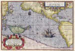 Abraham Ortelius' Map of the Pacific with the Terra Australis dominating the south, 1589.