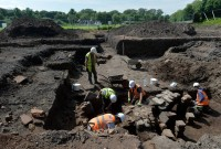 Excavation at Carlisle Cricket Club unearths Roman bathhouse. Photo by Stuart Walker, The Cumberland News.