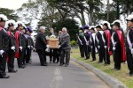 Knights of Columbus stand guard during reburial. Photo by Michael Macor, San Francisco Chronicle.