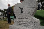 """Miranda Eve's"" gravestone at the reburial. Photo by Michael Macor, San Francisco Chronicle."