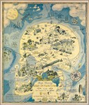 Map Showing Isle of Pleasure by H.J. Lawrence, 1931. Satire of Prohibition shortly before its repeal. Image courtesy the PJ Mode Collection.