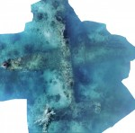 Photomosaic of B-25 bomber wreck discovered off Papua New Guinea. Photo courtesy Project Recover.