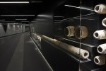 Clay and lead pipes from the 1st century A.D. on display at San Giovanni station. Photo by Andrew Medichini/AP.