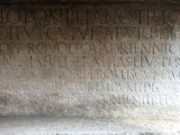 Inscription detail. Photo courtesy the Special Superintendency for the Archaeological Heritage of Naples and Pompeii.