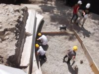 Excavation of the tomb. Photo courtesy the Special Superintendency for the Archaeological Heritage of Naples and Pompeii.