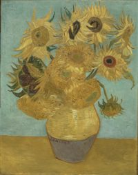 Sunflowers by Vincent Van Gogh, 1888-9. The Mr. and Mrs. Carroll S. Tyson, Jr., Collection, 1963. Photo courtesy the Philadelphia Musuem of Art.
