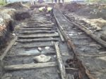 Excavating the Willington Waggonway. Photo courtesy Beamish Transport Online.