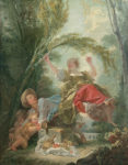 "Jean-Honoré Fragonard (French, 1732–1806) ""The Seesaw,"" c. 1750–52. Oil on canvas, 47 1/4 x 37 1/4 in. (120 x 94.5cm). Museo Thyssen-Bornemisza, Madrid."