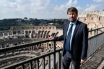 Italian Culture Minister Dario Franceschini takes in the view. Photo by Andreas Solaro, AFP.