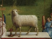 Lamb of God after overpaint removal. Saint Bavo Cathedral, Gent © Lukasweb.be-Art  in Flanders vzw, photo courtesy KIK-IRPA.