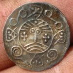 Obverse of the face/deer coin with a stylized face in the center. Photo courtesy Southwest Jutland Museums.