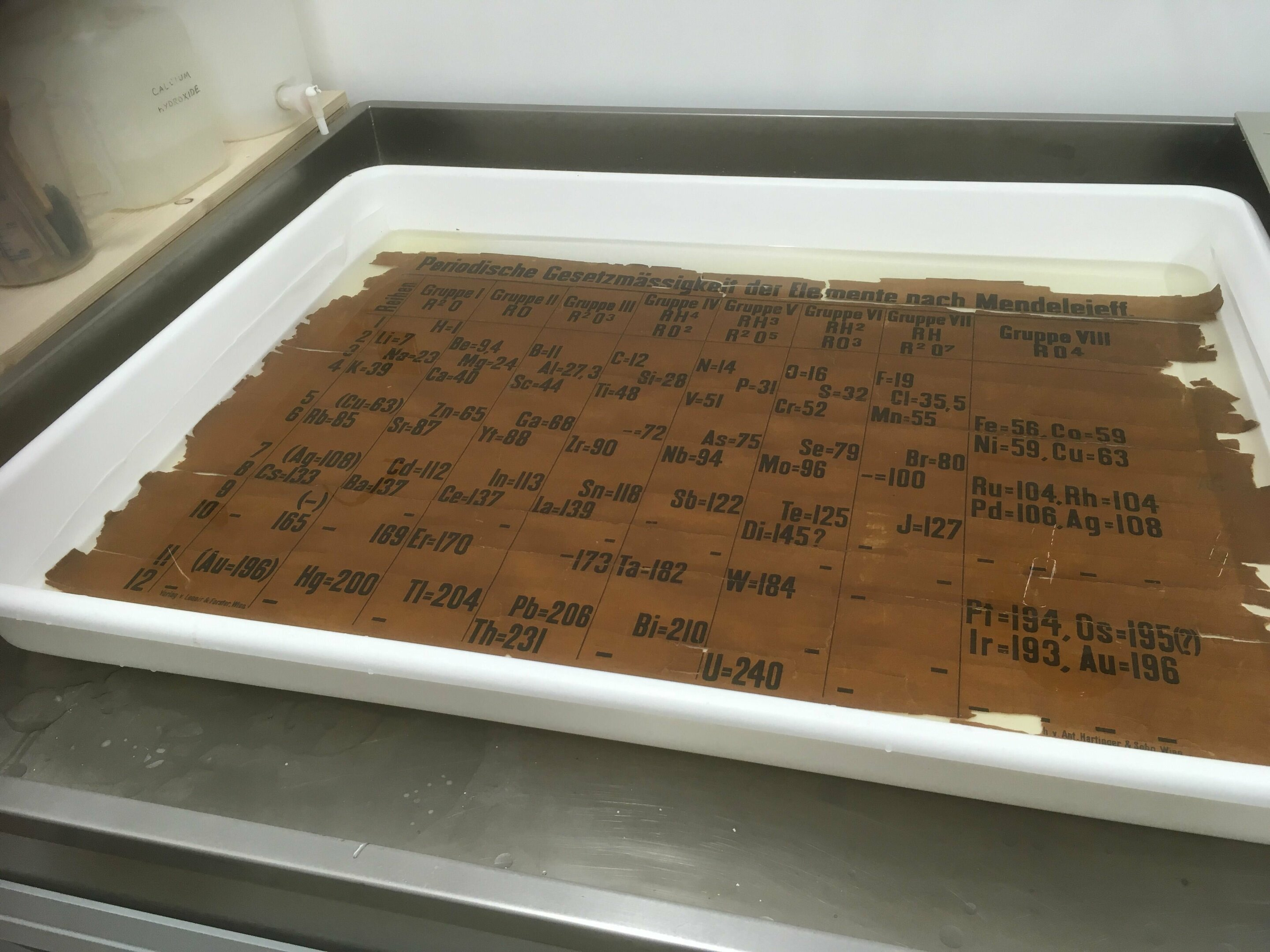 Blog Archive » World's oldest classroom periodic table found at St. Andrews