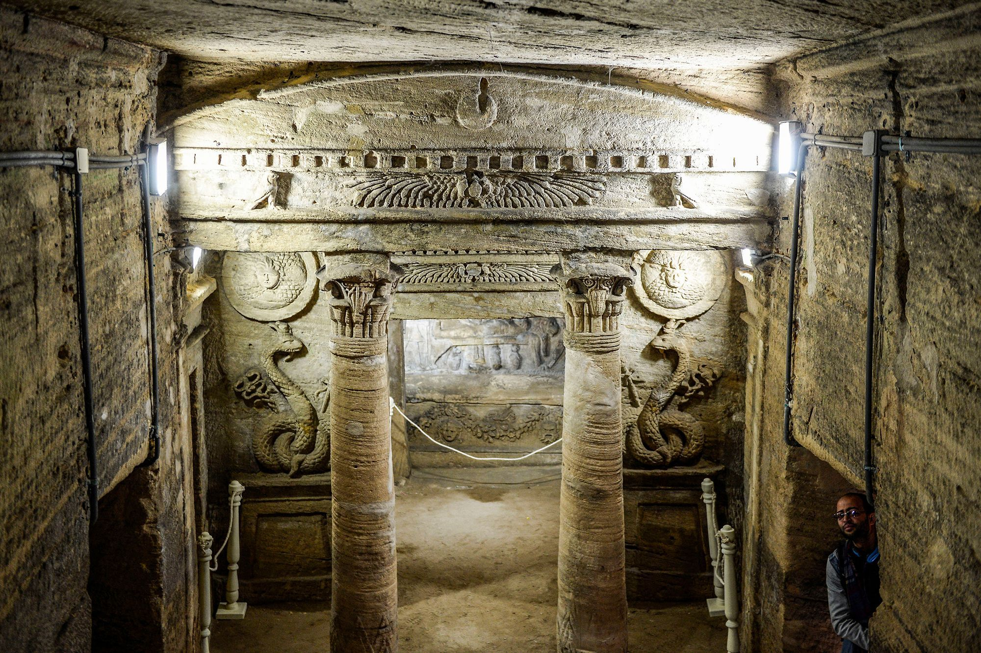 Greco-Roman-Egyptian catacomb saved from water
