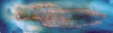 A low-resolution photomosiac of the wreck site, produced by Bureau of Ocean Energy Management Marine Archaeologist Scott Sorset using the ROV video. Image courtesy of the Bureau of Ocean Energy Management.
