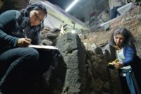 Excavation of early viceregal period home in the historic center of Mexico City. Photo by Melitón Tapia, INAH.