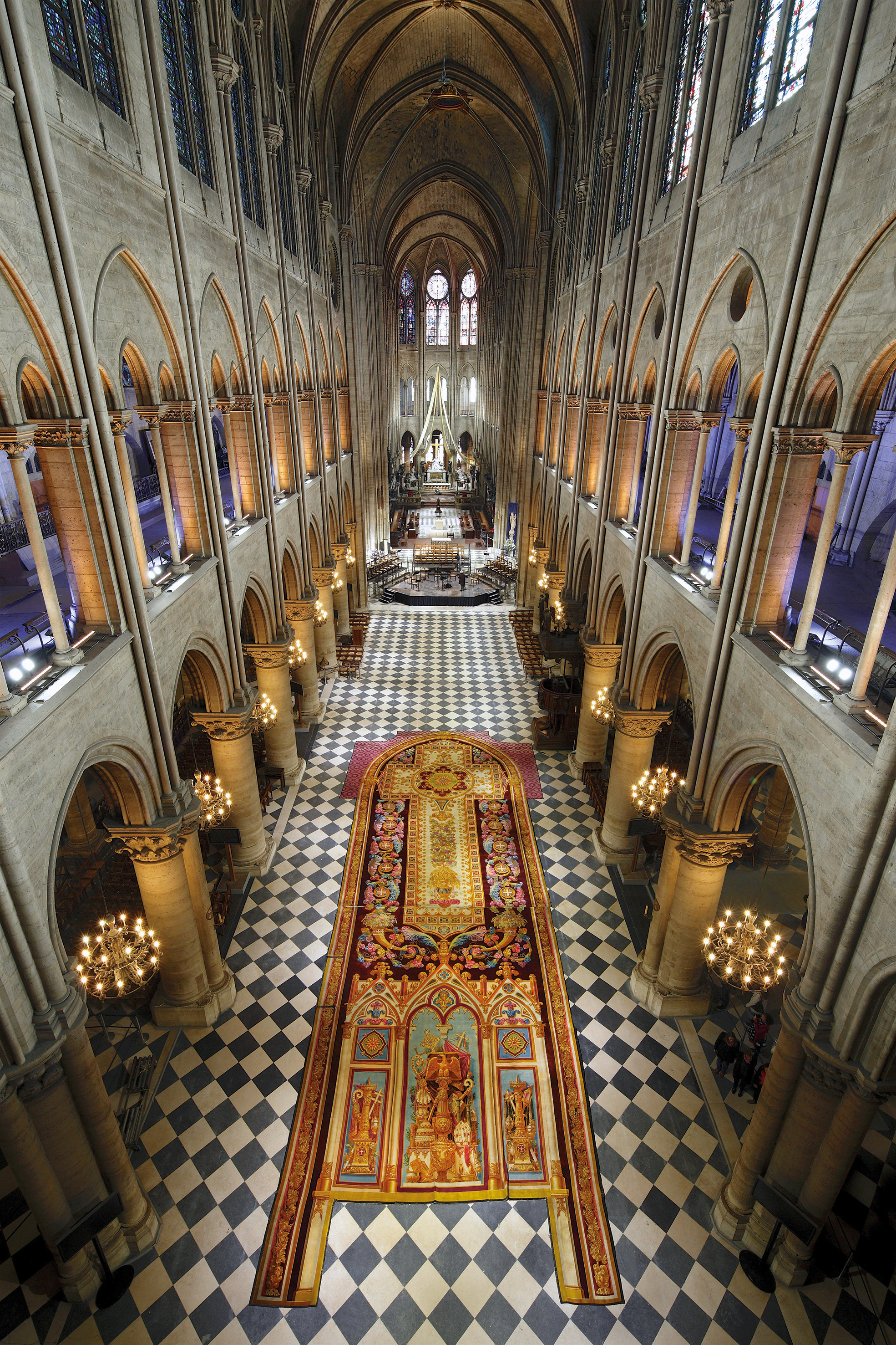 The History Blog Blog Archive Monumental Notre Dame Tapestry Saved In A Wind Tunnel