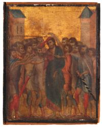 """Christ Mocked"" by Cimabue, ca. 1280. Photo courtesy Actéon and Eric Turquin."