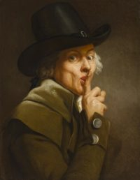 Self-portrait Le Silence by Joseph Ducreux, ca. 1790. Photo courtesy the Nationalmuseum.